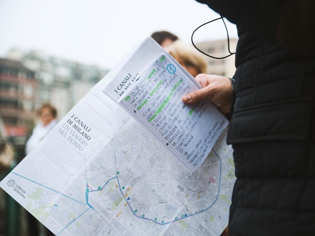 La mappa del percorso (ph. Cinzia Campogiani)